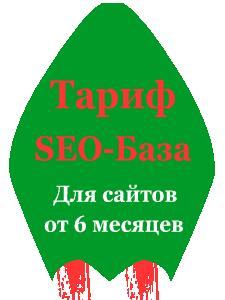Тариф (SEO-БАЗА) Для сайтов от 6 месяцев